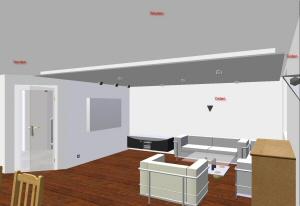 Deckensegel Wohnzimmer